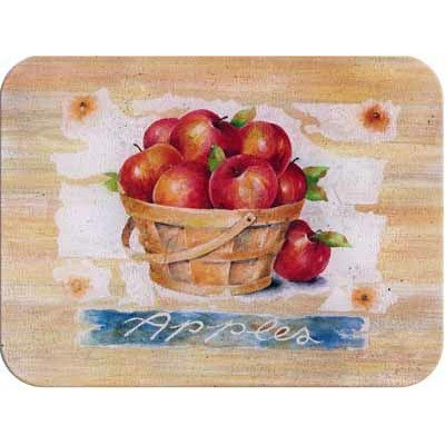 Tuftop Apples - Tuftop McGowan Apple Basket Cutting Board, Multicolor by Tuftop