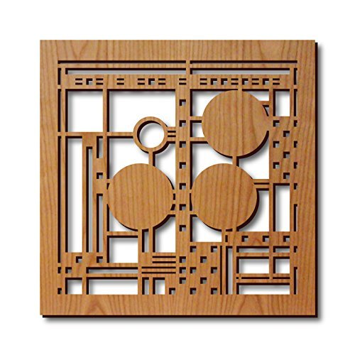 Frank Lloyd Wright Coonley Hardwood Trivet by Lightwave