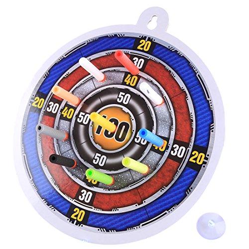 Goshfun Soft Bullet Dart Target Scores Dart Board Sucked Type Toy for Nerf Blaster (Best Type Of Dart Board)
