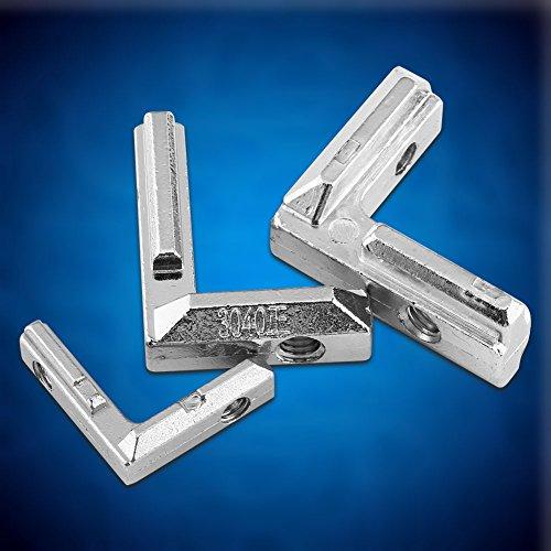 10 Pcs T Slot Corner Bracket Heavy Duty L-Shape Aluminum Profile Interior Corner Brackets Connector Carbon Steel Brackets Reinforcement Brace (EU-3030) by Hilitand (Image #6)