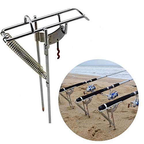 - Auto Fishing Rod Bracket Auto Tip Up Fishing Rod Double Spring Activated Hook Setter Holder
