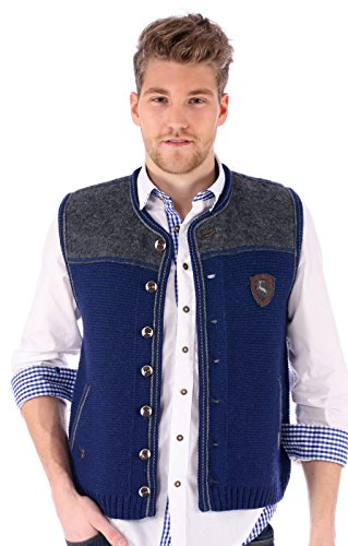 German knitted waistcoat Ramsau SW denimblue by Spieth & Wensky (Image #4)