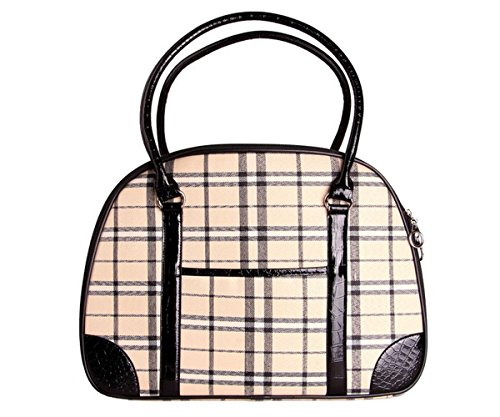 Tom Clovers New Dog Carrier Fashionable Puppy Travel Handbag Cat Purse Tote for Little Pet (Brown Small)