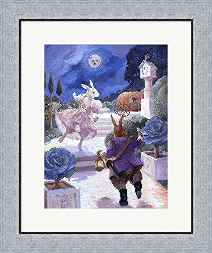 Cinderella Rabbit by Dot Bunn Framed Art Print Wall Picture, Flat Silver Frame, 20 x 24 (Silver Cinderella Frame)