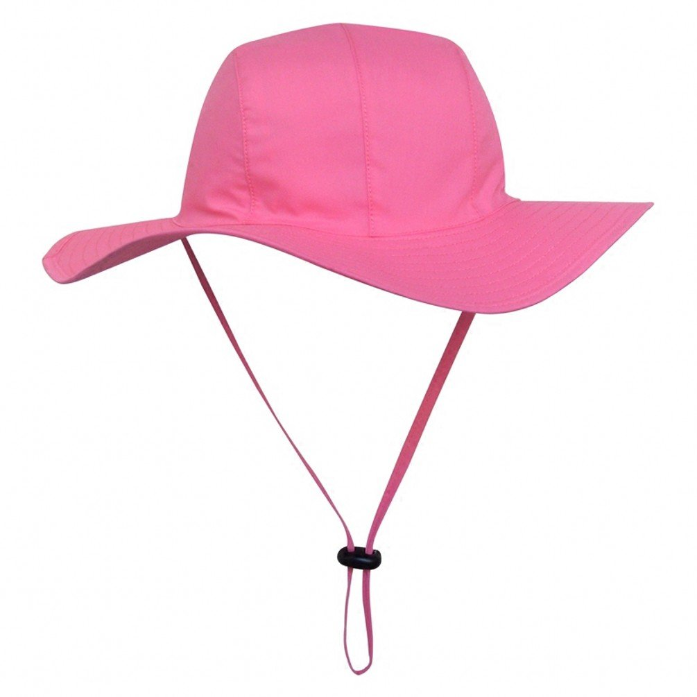 Ubbetter Unisex Child Wide Brim Sun Protection Hat UPF 50 Adjustable (Size XXL/8Years - 12Years, Pink)