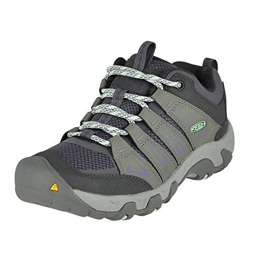 KEEN Women's Oakridge Shoe, Gray/Clear Aqua, 8 M US OAKRIDGE-W-W