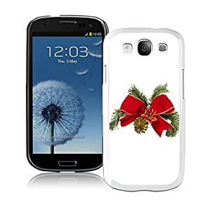 S3 Case,Christmas Tree Bowknot White Silicone Samsung Galaxy S3 Case,S3 I9300 Cover Case