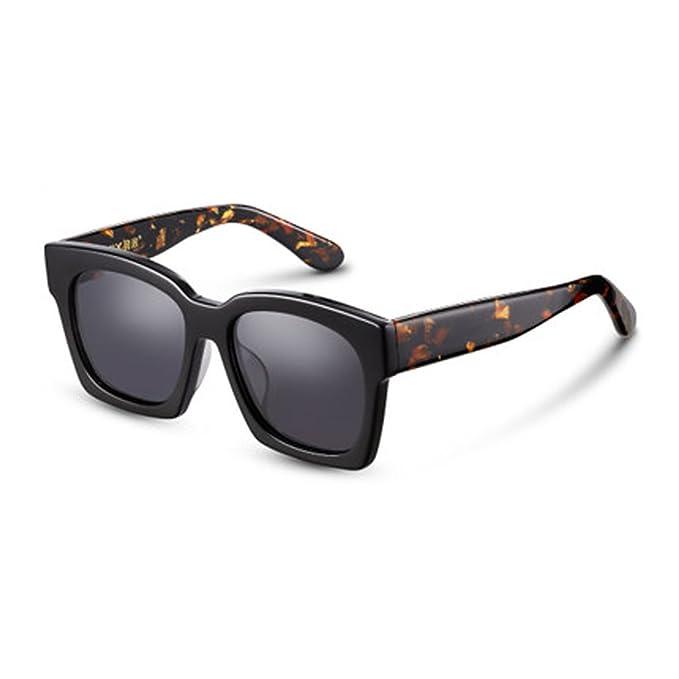 Gafas de sol redondas cuadradas vintage de los hombres Gafas de sol polarizadas cuadradas que conducen