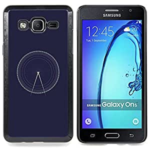 Time Navy Blue Architect Caja protectora de pl??stico duro Dise?¡Àado King Case For Samsung Galaxy On5 SM-G550FY G550