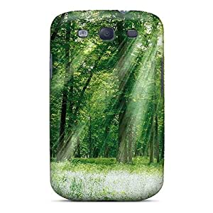 Protection Cases For Galaxy S3 / Cases Covers For Galaxy(green Nature)