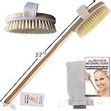 TopNotch Body Bath Brush - Long Handle Natural Bristles Wooden Bath Brushes - Detachable Head - Dry Skin Brushing eBook