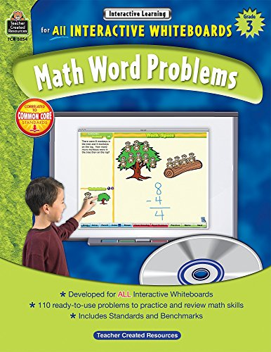 (Math Word Problems for All Interactive Whiteboards, Grade 3)