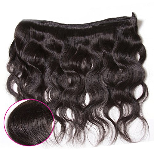Nadula Hair 7a Best Quality Brazilian Body Wave Virgin Hair Extensions 3 Bundles 18 20 22 Brazilian Wavy Unprocessed Human Hair Weave Natural Color by Nadula (Image #2)