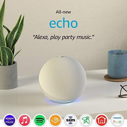 ALL-NEW ECHO (4TH GEN)   WITH PREMIUM SOUND, SMART HOME HUB, AND ALEXA   GLACIER WHITE