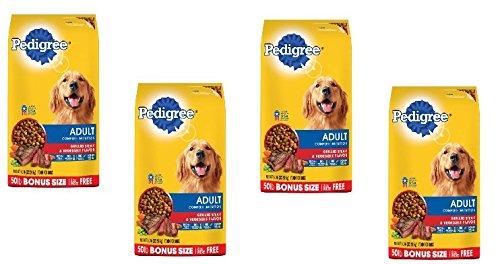PEDIGREE Adult Complete Nutrition Grilled Steak & Vegetable Flavor Dry Dog Food 50 Pounds (50 pounds Pack of 4) by PEDIGREE