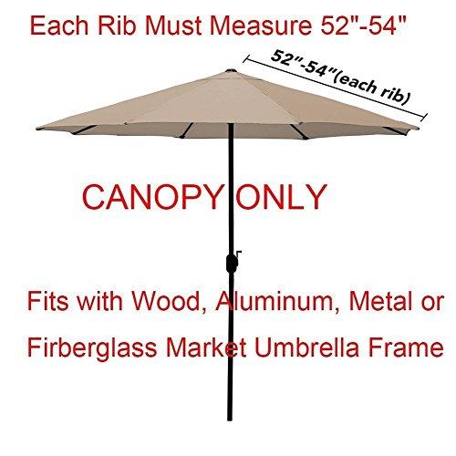 EliteShade 9ft Patio Umbrella Market Table Outdoor Deck Umbrella Replacement Canopy (Turquoise) by EliteShade (Image #1)