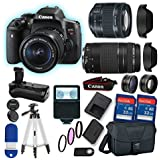 Canon EOS Rebel T6i DSLR Camera with 18-55mm STM Lens Bundle and Canon EF 75-300mm f/4-5.6 III Lens + Professional Accessory Bundle