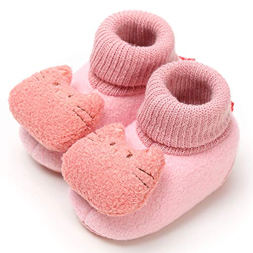 Infant Cat (LIVEBOX Newborn Baby Booties, Cute Little Cat Pattern Cotton Warm Winter Infant Prewalker Toddler Snow Boots Crib Shoes for Girls Boys)