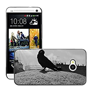Hot Style Cell Phone PC Hard Case Cover // M00111861 Carrion Crow Birds Bird Crow // HTC One M7