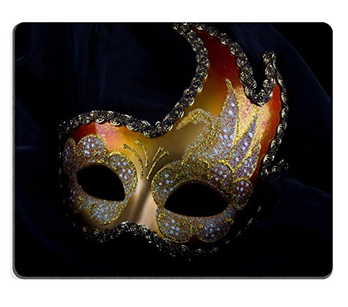 [Liili Mouse Pad Natural Rubber Mousepad Venecian mask gold and red carnival venice IMAGE ID] (Glamour Costumes 2016)