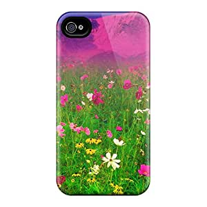 New Premium KIUPmiQ4153uvJHw Case Cover For Iphone 4/4s/ Dream Spring 2012 Field Of Flowers 94 Protective Case Cover