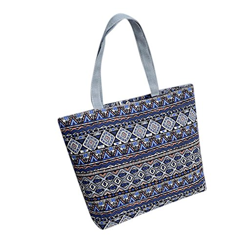 Tote Women Shoulder Printing Handbag Canvas Light Simayixx Hot Blue Shopper Girls Sale Shopping Bag 1fgwaqH