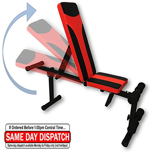 Adjustable Fitness Bench Weight Lifting Gym Home Workout