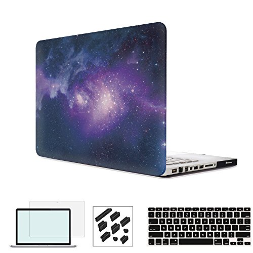 RYGOU 4 in 1 Matte Hard Case with Keyboard Cover Screen Protector Compatible Old MacBook Pro 15