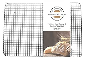 kitchenXcuisine Stainless Steel Baking and Cooling Wire Rack, 12-Inch-by-17-Inch