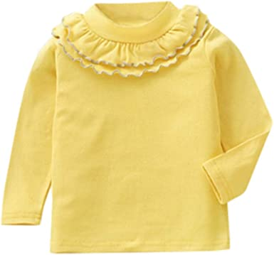 Mitlfuny Primavera Verano de Ropa Blusas para Bebé Manga Larga Camisas Encaje Camisetas Cuello Alto Tops Niñas Niños 1-5 Años: Amazon.es: Ropa y accesorios
