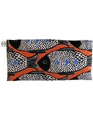Peacegoods Scented Eye Pillow - Lavender Flax Seed - 4 x 8.5 - Cotton - Meditation Yoga Massage Sleep Travel - fish modern