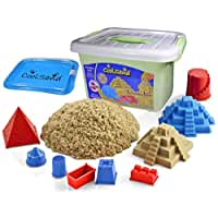 CoolSand Deluxe Bucket Kinetic Play Sand With Inflatable Sandbox – Castle Set Edition