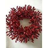 24 Inch Red Holiday Berry Wreath