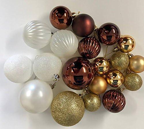 Pack de 20 bolas decorativas para árbol de Navidad, varios colores ...