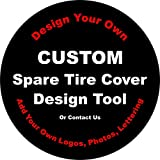 Custom Spare Tire Cover for Jeep RV Camper VW Trailer etc(Select popular sizes from drop down menu or contact us-ALL SIZES AVAILABLE)Tire Cover Central