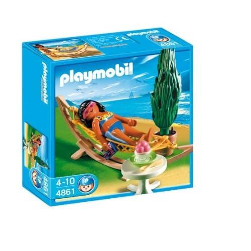 Playmobil 4861 - Jeu de construction - Femme avec hamac