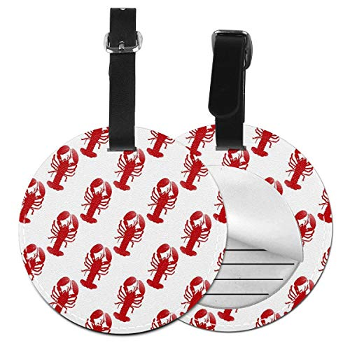 - Luggage Tag Lobster Red Cruise Tags Etag Bag Tags For Travel Identifier Suitcase, Suitcase Tag Lables Adjustable Stainless Loop Name Id Labels Bag Tags