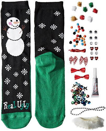 Real Ugly Women's 9-11 Christmas Kits Socks by Soxland, Snowman, One Size