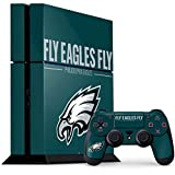 Skinit NFL Philadelphia Eagles PS4 Console and Controller Bundle Skin - Philadelphia Eagles Team Motto Design - Ultra Thin, Lightweight Vinyl Decal Protection