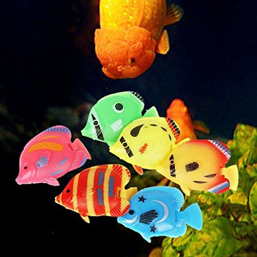 Legendog 20PCS Plastic Fish Aquarium Decor Creative Floating Simulated Fish Aquarium Ornament Fish Tank Animal by Legendog (Image #4)
