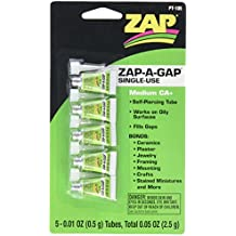 Pacer Technology (Zap) Single Use Mini Tube Adhesives (5 Piece)