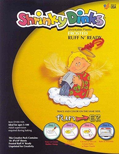 Shrinky Dinks Shrinkable Plastic - 8 x 10 inches - Set of 10
