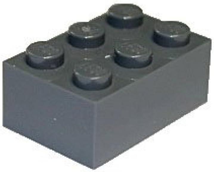 LEGO Parts and Pieces: 2x3 Dark Gray (Dark Stone Grey) Brick x50
