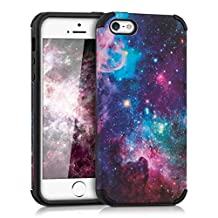 kwmobile Hybrid case Design space for Apple iPhone SE / 5 / 5S in multicolor dark pink black
