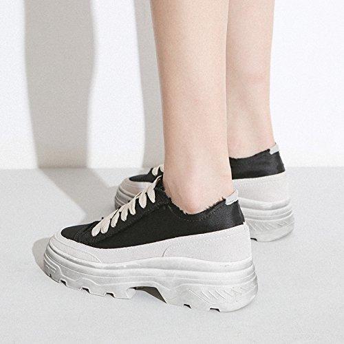 Mode noir Petit Épais QQWWEERRTT Forme Plate Sport Blanc Fond Printemps Chaussures Chaussures Chaussures Femmes Chaussures Nouveau BHdwRd