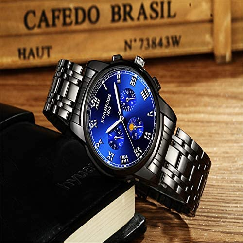 2020 Top brand di lusso in acciaio inossidabile cronografo sportivo da polso da uomo con cinturino al quarzo da polso per uomo orologi Relogio Masculino