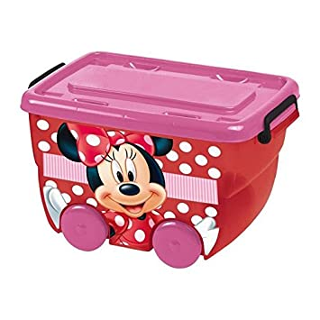 Disney 830124 - Caja a Ruedas, 25 L, diseño de Minnie: Amazon.es: Juguetes y juegos