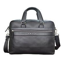CROSS Nueva FV Men's Leather Briefcase / Office / Business / Laptop Bag - Black