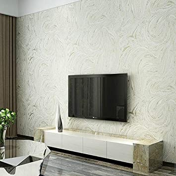 Amazon Com Grey White Beige Modern Metallic Marble Wallpaper Roll
