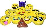 "Gloworks 14"" Emoji Pillow (Set of 12) Assorted Emojis"